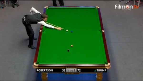 snooker, [Gfy of the Day] Trump suffers an embarrassing miscue which almost cost him the frame (reddit) GIFs