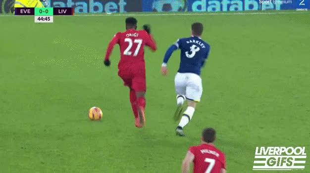 liverpoolfc, Liverpool Gifs - Barkley on Origi #EVELIV #MerseysideDerby GIFs