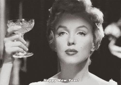Watch Marylin Happy new year ANIMATED GIF - SpeakGif GIF on Gfycat. Discover more marilyn monroe GIFs on Gfycat