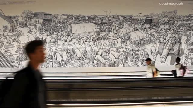 Watch and share Joe Sacco's Great War - In Paris Montparnasse Metro Station GIFs on Gfycat
