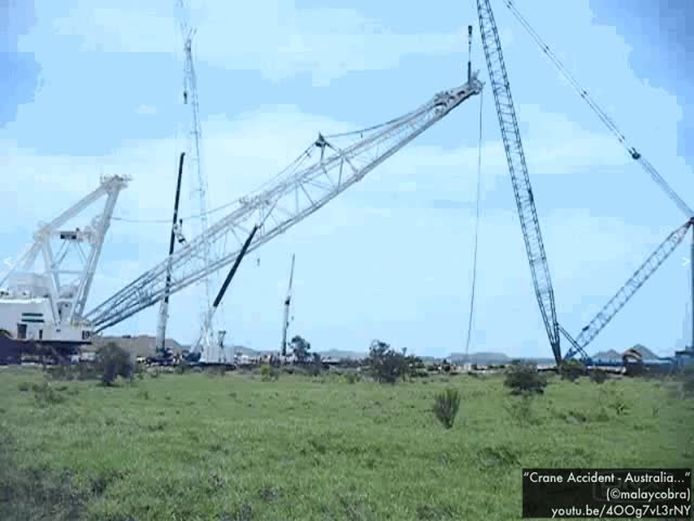"Watch and share Also We'll Analyze Why This Crane Boom Came Crashing Down In This Industrial Accident.  (Video Link: "" GIFs on Gfycat"