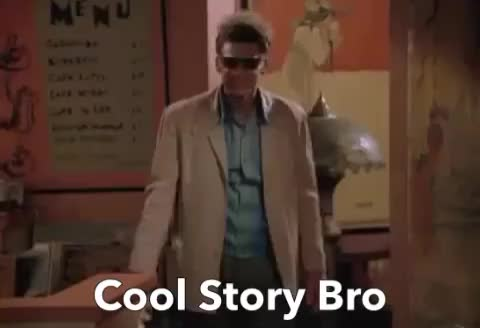 Watch this cool story bro GIF by ioanna on Gfycat. Discover more Cool Story Bro, bravo, bro, cool, epic, kramer, perfect, story, thumbs, up, wow GIFs on Gfycat