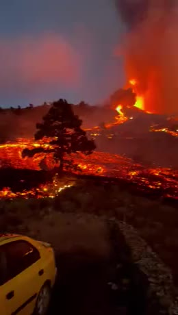 La Palma volcano gif