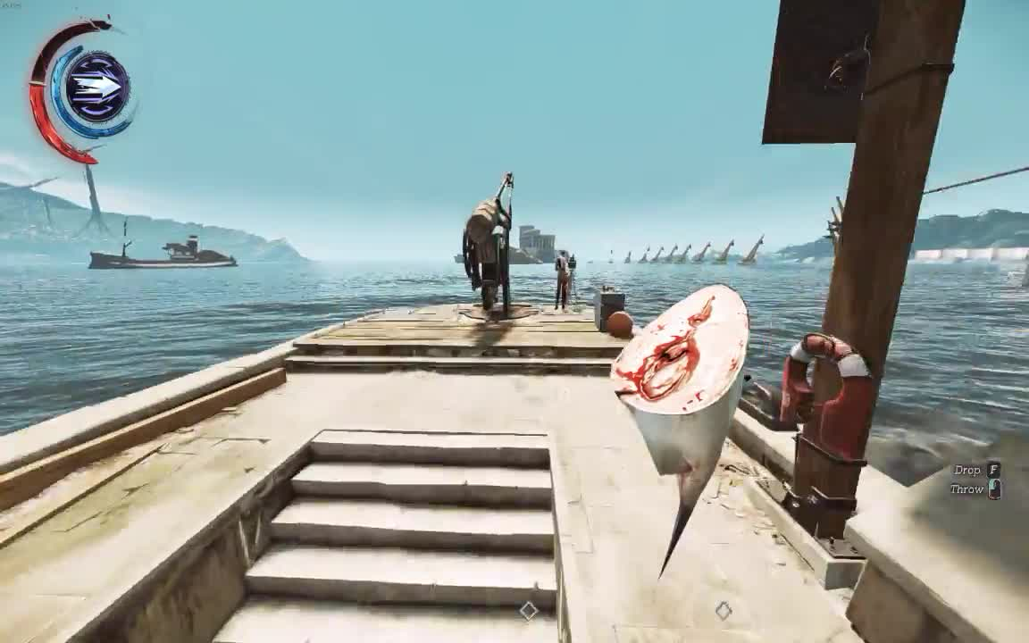 Dishonored, bottle, fish, what, why, Dishonored GIFs
