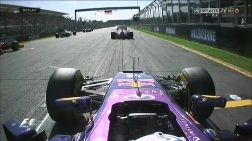 formula1gifs, Onboard Ricciardos Australian GP start. (reddit) GIFs