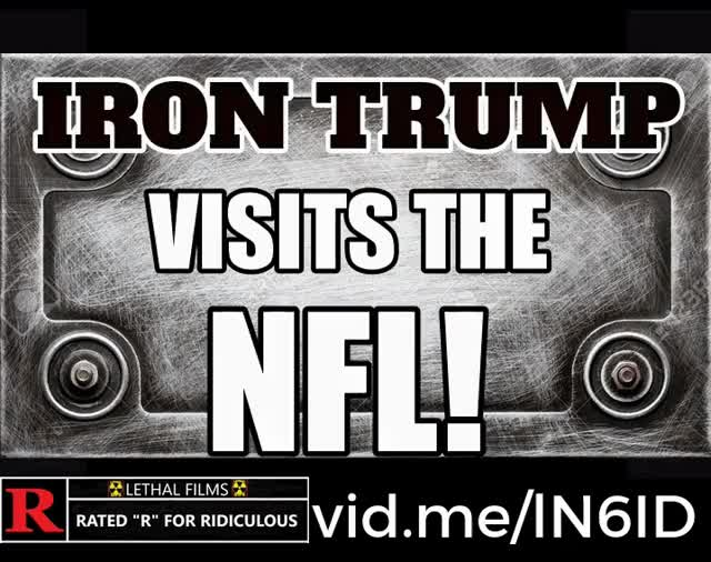 Watch TRUMP VS NFL TRAILER  GIF by Mick Lethal (@micklethal) on Gfycat. Discover more Colin Kaepernick, IRON TRUMP, Lethal Films, LethalGIFs, Mick Lethal, NFL:, Superhero, Take A Knee, Trump, battle, comedy, football, funny, laser, vidme.com. GIFs on Gfycat