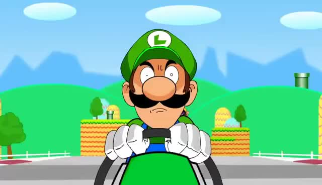 Watch and share Luigi Death Stare GIFs on Gfycat