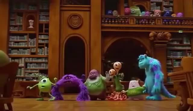 Watch and share MONSTERS UNIVERSITY-LIBRARIAN SCENE GIFs on Gfycat