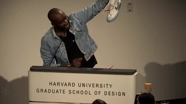 Watch Virgil Abloh's Lecture at Harvard's Graduate School of Design GIF on Gfycat. Discover more related GIFs on Gfycat