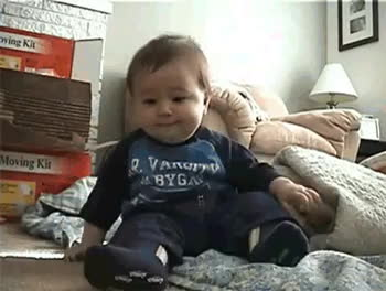 This baby who laughed so hard it fell over. This baby who laughed so hard it fell over. gifs,inspiring,monday,watercooler,list,lists,pics,little girl laugh,smile,uncategorized (reddit) GIFs