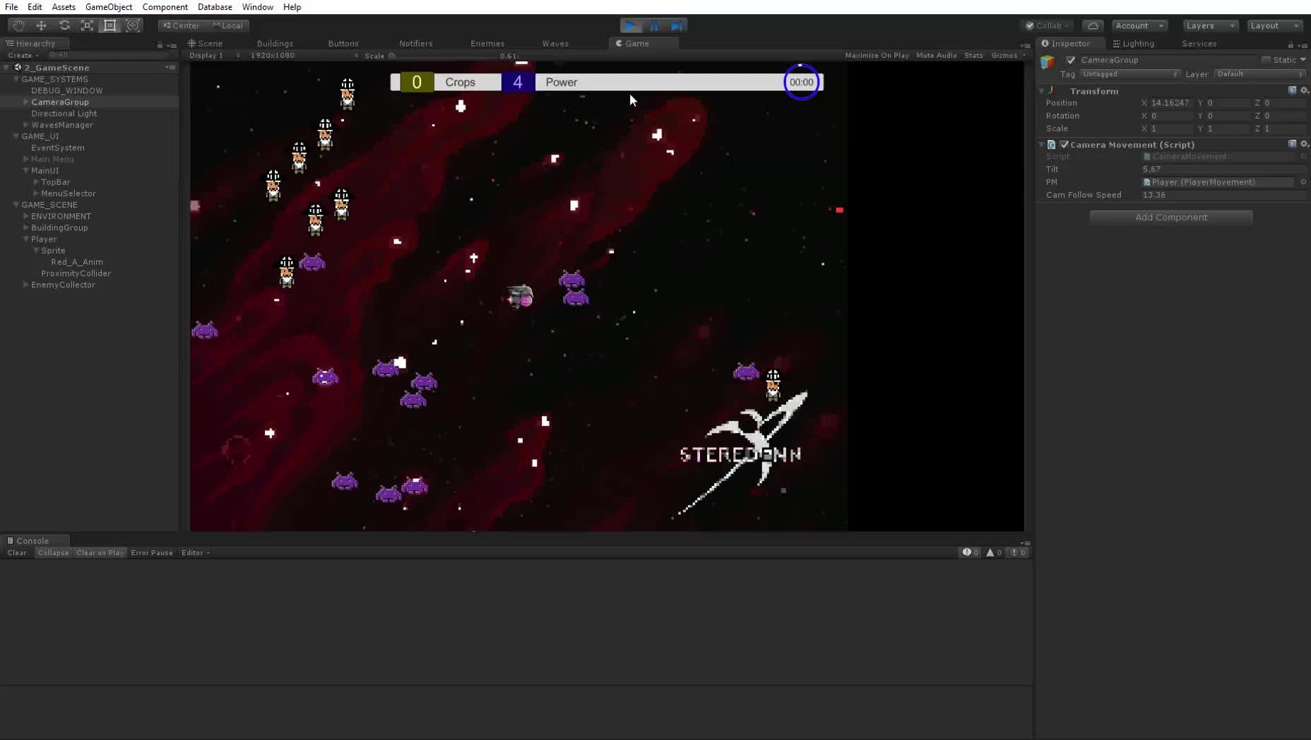 Unity 2017.3.1f1 Personal (64bit) - 2 GameScene.unity - FarmingInSpace - PC, Mac & Linux Standalone DX11  25 05 2018 03 53 54 GIFs