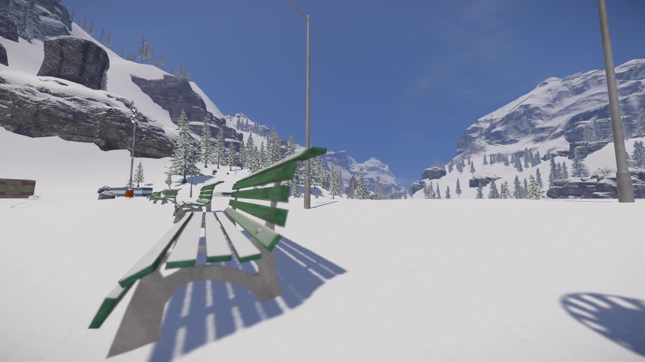 snow, snowboarding, snowthegame, Bench Bonk Flip GIFs