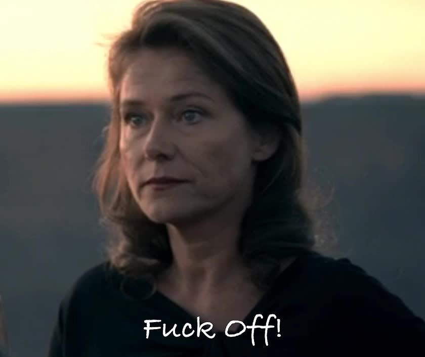 rude, West world - Sidse Babett Knudsen – Theresa Cullen: Fuck off! GIFs