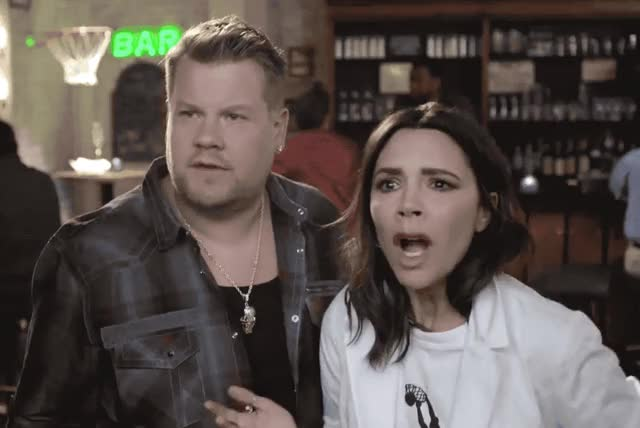 Watch this shocked GIF by GIF Queen (@ioanna) on Gfycat. Discover more afraid, beckham, corden, god, happening, hysteria, hysterical, is, james, late, my, o'neal, oh, omg, scared, shaquille, stress, victoria, what, wtf GIFs on Gfycat