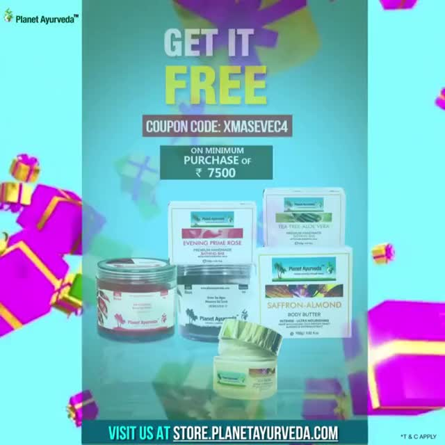 Watch Celebrate This Christmas & New Year With Planet Ayurveda Exciting Offers - For Indian Customers GIF on Gfycat. Discover more related GIFs on Gfycat