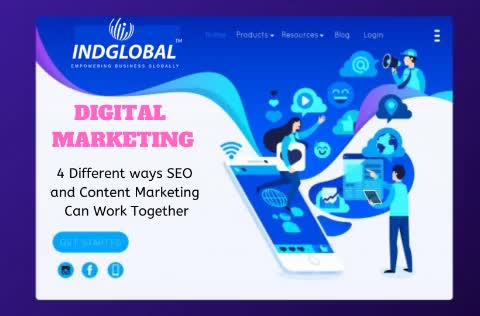 Watch and share 4 Different Ways SEO And Content Marketing Can Work Together. GIFs by Indglobal Digital Private Limi on Gfycat