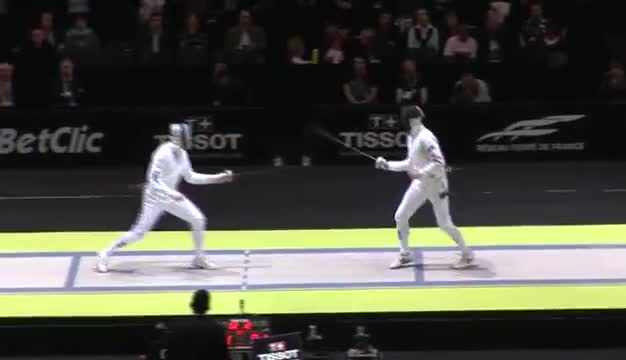 Watch Gold for Nikolai Novosjolov (EST) at the 2010 World Fencing Championships GIF on Gfycat. Discover more 20101112, me, paris GIFs on Gfycat