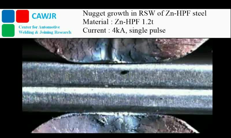 Science & Technology, Yeong-Do Park, Nugget growth in the Resistance Spot Welding of Zn coated HPF steel GIFs