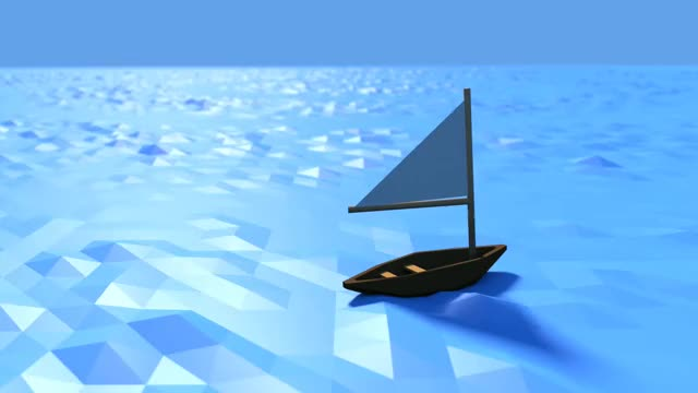 Watch and share [OC] Low Poly Sailboat Floating On Calm Low Poly Waters (reddit) GIFs by bwanton on Gfycat
