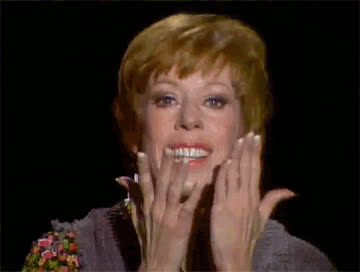 50th anniversary, carol burnett, carol burnett 50, carol burnett show, ear tug, thank you, thanks, Carol Burnett - Thank You GIFs