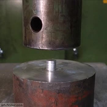 Watch and share Crushing Coins With Hydraulic Press GIFs on Gfycat