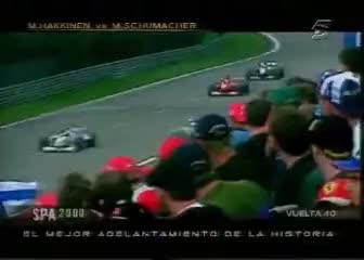 formula 1, Hakkinen vs Schumacher Spa 200 GIFs
