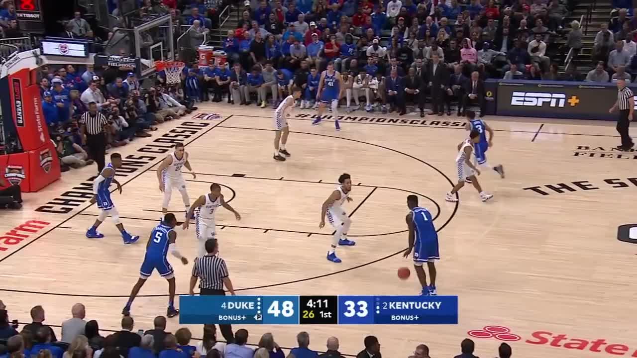 basketball, espn, Zion Williamson, R.J. Barrett score 61 points for Duke vs. Kentucky | College Basketball Highlights GIFs
