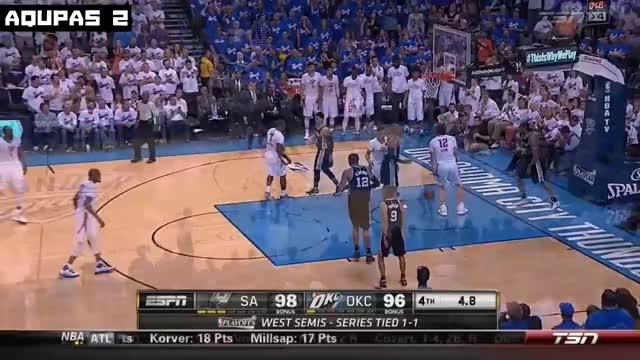 OKC Thunder vs San Antonio Spurs | Game 3 | Full Game Highlights | May 5 | 2016 NBA West Semi ...