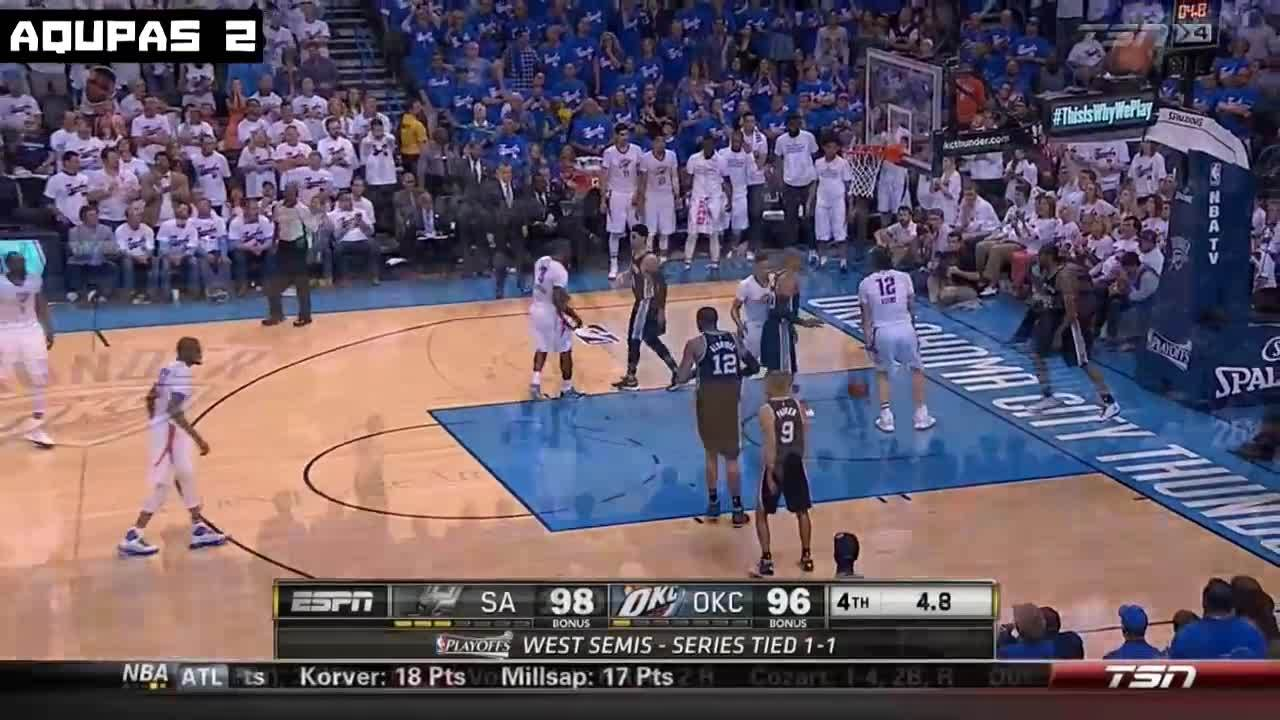 OKC Thunder vs San Antonio Spurs | Game 3 | Full Game Highlights | May 5 | 2016 NBA West Semi ...