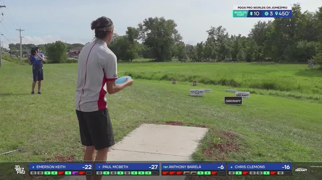 2019 Pro Worlds Round 3 Lake Eureka Anthony Barela hole 10 drive GIFs