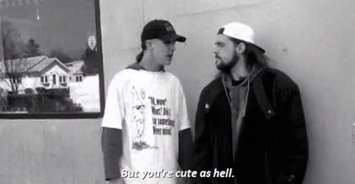 Watch and share Jay And Silent Bob GIFs and Black And White GIFs on Gfycat