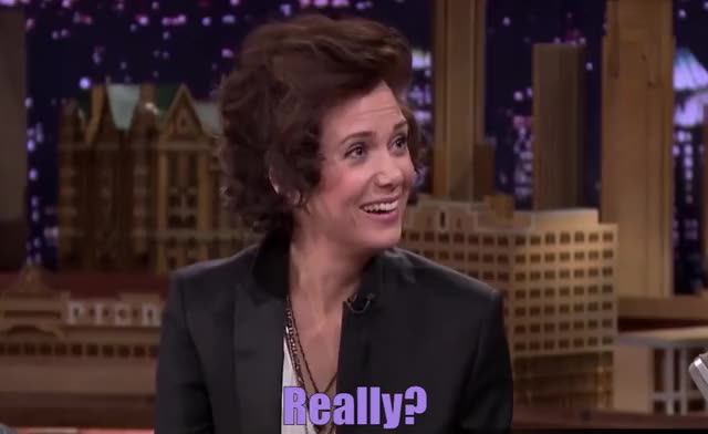 Watch and share The Tonight Show GIFs and Kristen Wiig GIFs by Reactions on Gfycat