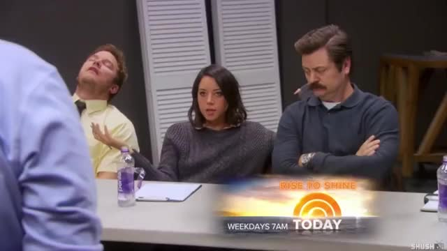 Watch and share Nick Offerman GIFs and Aubrey Plaza GIFs by sportsziggy on Gfycat