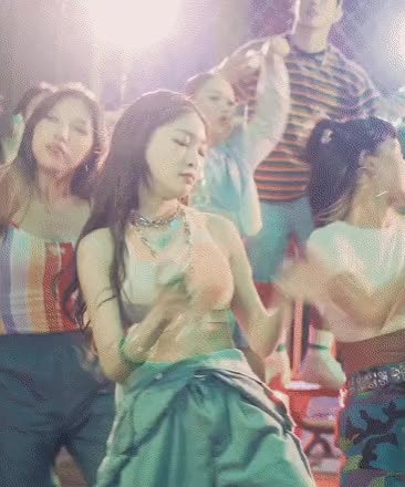 Watch and share 청하 스포츠브라 GIFs on Gfycat