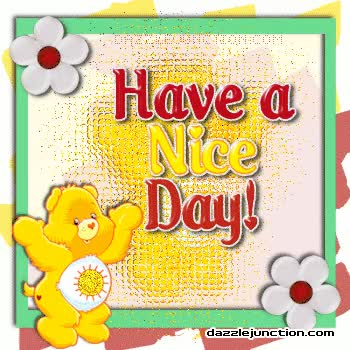 Watch and share Nice Day Greetings From Yellow Care Bear GIFs on Gfycat