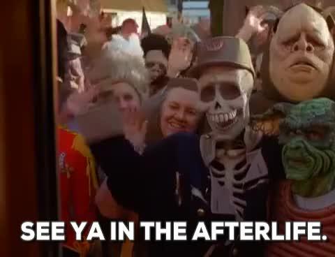 bye, bye for good, farewell, goodbye, halloween, halloweentown, rip, see ya, See Ya In the Afterlife GIFs