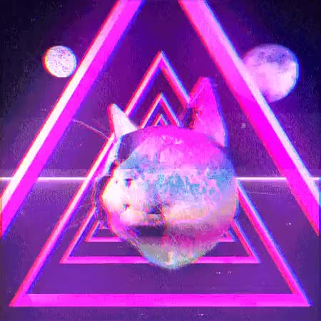 Watch A second cat floating in space GIF on Gfycat. Discover more 3D, AFTEREFFECTS, C4D, CAT, CGI, GIF, LOOP, MOONS, TRIANGLE, TRIP GIFs on Gfycat
