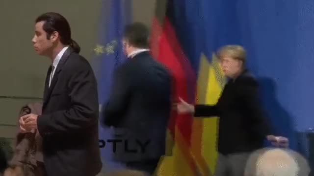 Watch this angela merkel GIF on Gfycat. Discover more angela merkel, john travolta, politics GIFs on Gfycat