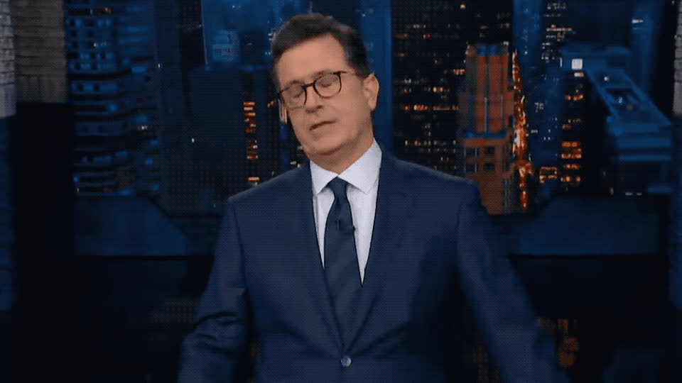 bored, boring, colbert, exhausted, good, good night, goodnight, night, scared, sleep, sleepy, stephen, that, tired, tiring, up, wake, was, what, zzz, Stephen Colbert is sleepy GIFs