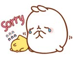 Watch and share Gif Molang ♥ animated stickers on Gfycat