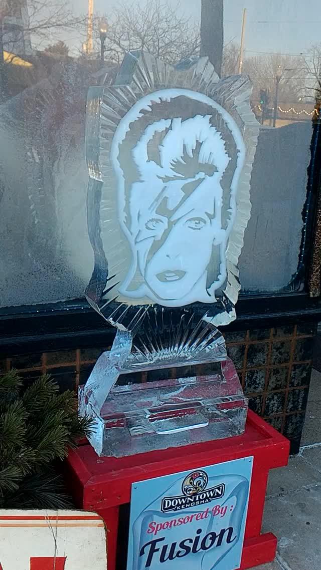 Ziggy Stardust ice sculpture