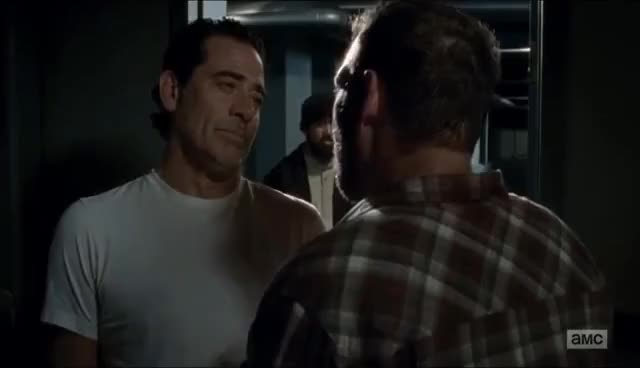 Watch and share The Walking Dead 7x15 - Negan Kills David For Breaking His Rule GIFs on Gfycat