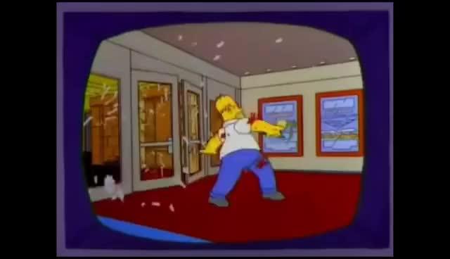 Watch and share La Muerte De Homero Simpson GIFs on Gfycat