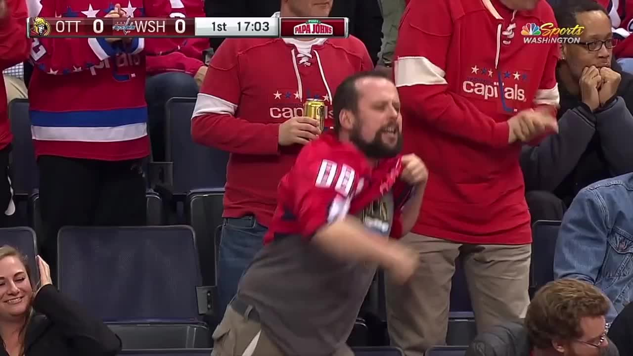 Very excited Caps fan GIFs