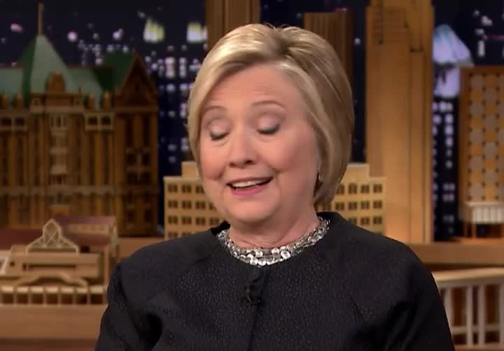 a, care, clinton, damn, dgaf, don't, fallon, give, hilary, hillary, jimmy, knows, shit, show, tonight, who, Hillary Clinton  GIFs