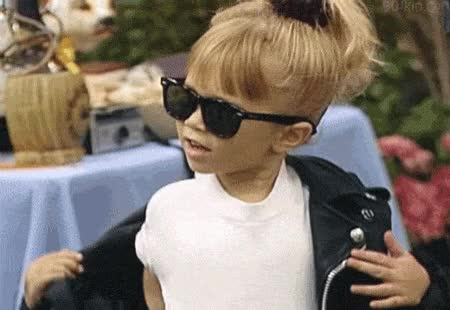 Watch and share Michelle Tanner Leather Jacket GIFs on Gfycat