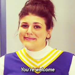 molly tarlov, you re welcome GIFs