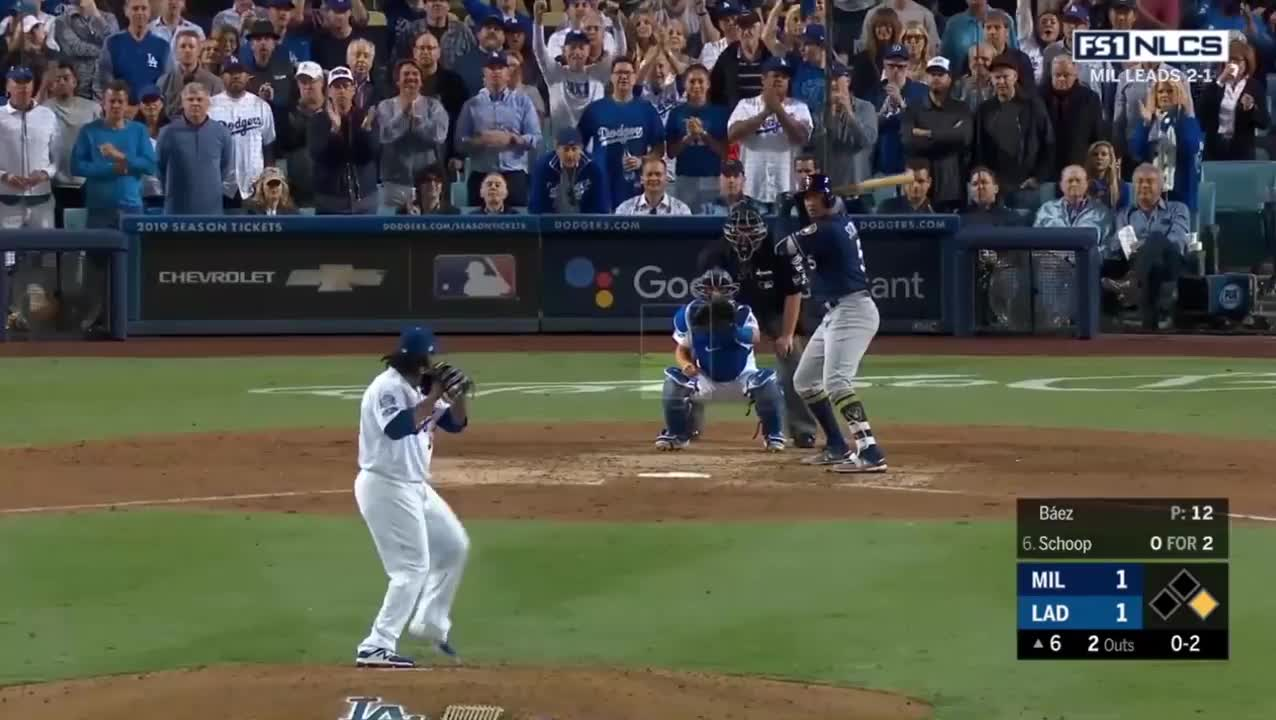 Los Angeles Dodgers, Milwaukee Brewers, baseball, Milwaukee Brewers vs Los Angeles Dodgers Highlights || NLCS Game 4 || October 16, 2018 GIFs