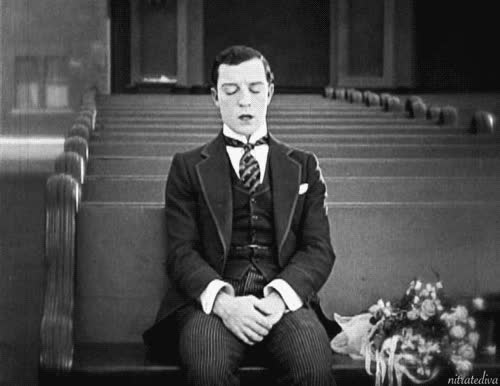 1925, buster keaton, embarrassed, face palm, fml, seven chances, ugh, Buster Keaton Face Palm GIFs