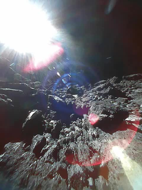 Watch and share The View From The Surface Of Asteroid Ryugu GIFs on Gfycat